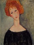 Red Head Giclée-tryk af Amedeo Modigliani