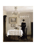 Interior with Lady Carrying Tray,C.1905 Giclee Print by Carl Holsoe