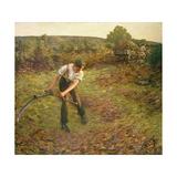 Mowing Bracken, 1903 Giclee Print by Henry Herbert La Thangue