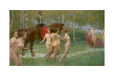 The Knight's Dream, 1902 Giclee-trykk av Richard Mauch