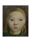 Head of a Girl Gicléetryck av Paula Modersohn-Becker