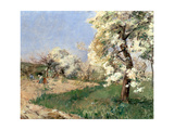 Pear Blossoms, Villiers-De-Bel Giclee Print by Childe Hassam