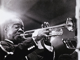 Louis Armstrong (1900-71) Reproduction photographique par  American Photographer
