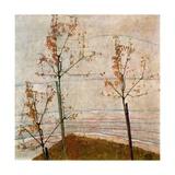 Autumn Trees, 1911 Giclée-tryk af Egon Schiele