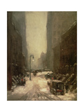 Snow in New York, 1902 Giclée-tryk af Robert Henri