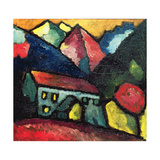 A House in the Mountains, c.1912 Giclee-trykk av Alexej Von Jawlensky
