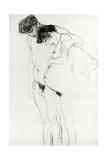 Study for 'Hoffnung I' (Hope I) 1903-04 Gicléedruk van Gustav Klimt