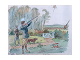 The Month of October: Pheasant Shooting Giclee Print by George Derville Rowlandson
