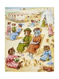 Holiday Time Reproduction procédé giclée par Louis Wain