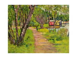 The Pathway, Loch Lomond Giclee Print by George Leslie Hunter
