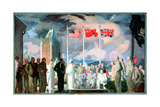 The 1943 Quebec Conference, 1945 Giclee Print by Hubert Rogers