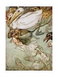The Pool of Tears, from 'Alice's Adventures in Wonderland' by Lewis Carroll (1832-98) 1907 Reproduction procédé giclée par Arthur Rackham