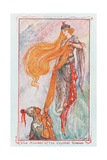 """""""The Ascent of the Crystal Tower"""", Illustration to 'Zouluisia' from One of the Coloured Fairy… Lámina giclée por Henry Justice Ford"""