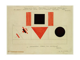 Design for the Speaker's Rostrum, 1919 Giclee-trykk av Kasimir Malevich