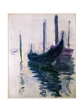 Gondolas in Venice, 1908 Giclee Print by Claude Monet