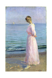 Girl in a Pink Dress, 1914 Giclee Print by Michael Peter Ancher