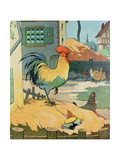 The Cock, Illustration from 'Le Buffon de Benjamin Rabier', Adapted from 'Histoire Naturelle' of… Giclee Print by Benjamin Rabier