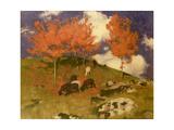 Wild Cherries in the Tyrol, c.1909 Giclée-tryk af Adrian Scott Stokes