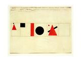 Design for the Speaker's Rostrum, 1919 Giclée-tryk af Kasimir Malevich