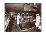 The Kitchen at the Ritz-Carlton Hotel, c.1910-11 Giclee Print by  Byron Company