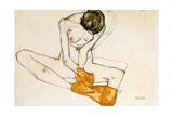 Female Nude, 1901-1918 ジクレープリント : エゴン・シーレ
