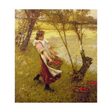 In the Orchard, Haylands, Graffham Giclee Print by Henry Herbert La Thangue