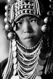 Akha Woman from Northern Thailand Fotografisk trykk
