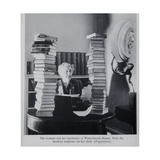 Agatha Christie, the Woman and Her Mysteries at Winterbrook House Stampa giclée di  English Photographer
