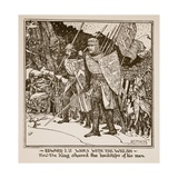 Edward I's Wars with the Welsh - How the King Shared the Hardships of His Men, Illustration from… Lámina giclée por Henry Justice Ford