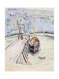 The 'Sans Pareil' in Brixham Harbour, c.1931 Gicléetryck av Dora Carrington