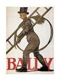 Poster Advertising 'Bally' Leather, 1926 Gicléetryck av Emil Cardinaux