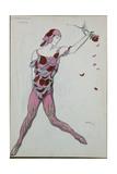 Costume Design for Nijinksy from 'Le Spectre de La Rose', 1911 Giclee Print by Leon Bakst