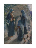 The Women at the Sepulchre, Illustration from 'Women of the Bible', Published by the Religious… Giclée-tryk af Harold Copping