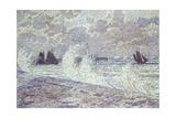 The Sea During Equinox, Boulogne-Sur-Mer, 1900 Gicléetryck av Théo van Rysselberghe