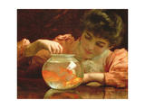 The Goldfish Bowl Giclee Print by Thomas Benjamin Kennington