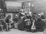 Interior of a Breton Pancake Restaurant, Finistere, c.1900 Reproduction photographique par  French Photographer
