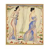 Study for 'Die Cempfindung I', c.1901-02 Giclee Print by Ferdinand Hodler