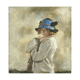 The Blue Hat Giclée-tryk af Sir William Orpen