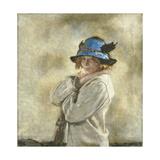 The Blue Hat Gicléetryck av Sir William Orpen