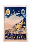 Poster Advertising Guyot Bicycles Impressão giclée