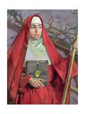 Saint Brigid Giclée-tryk af Patrick Joseph Tuohy