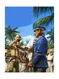 Henry Stanley Greets David Livingstone Giclee Print by Roger Payne