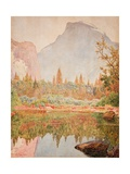 Half Dome, Yosemite, 1926 Gicléetryck av Gunnar Widforss