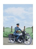 T E Lawrence on His Motorcyle Giclee Print by John Keay