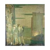 The Landing of St Patrick in Ireland, 1912 Gicléetryck av Frederick Cayley Robinson