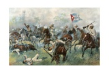 The Battle of Desmayo - 'The Cuban Balaklava' Giclee Print by William Allen Rogers