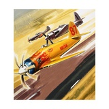 Three 'Hot Rod' Racers from Aerobatic Competitions Giclee Print by Wilf Hardy