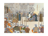 Joan of Arc at the Stake, Illustration from 'Jeanne d'Arc', c.1910 Giclee Print by Louis Maurice Boutet De Monvel