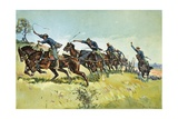 Grimes's Battery Going Up El Pozo Hill Giclee Print by Frederic Sackrider Remington