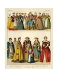 German Costume 1550-1600 Giclee Print by Albert Kretschmer